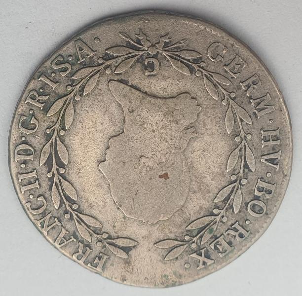 Austria - 20 Kreuzer 1804C, Franz II, Silver