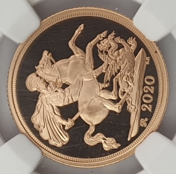 England - 1 Sovereing 2020 (PF 70 ULTRA CAMEO), G. Britain, King George III Privy