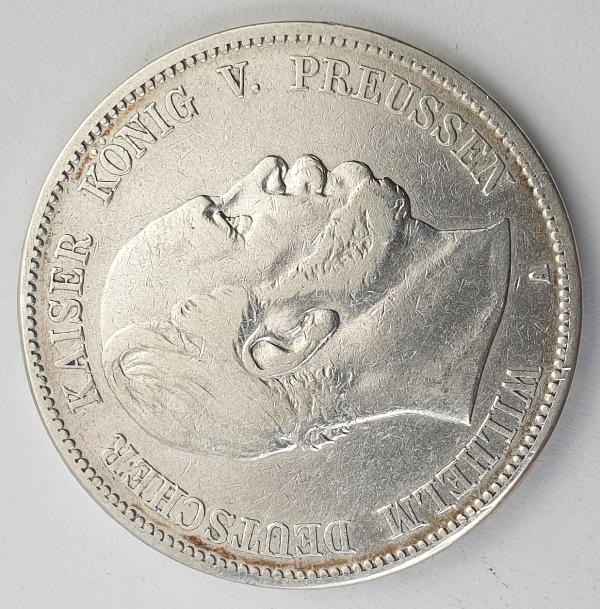 Germany - 5 Mark 1874 A, Wilhelm I, Silver