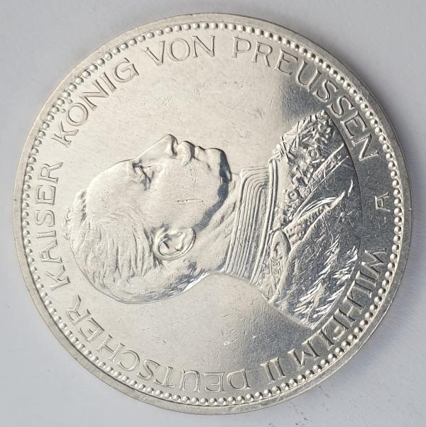 Germany - 5 Mark 1913 A, Wilhelm II, Silver