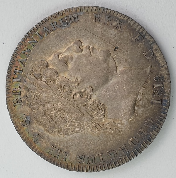 England - 1 Crown 1819, George III, Silver