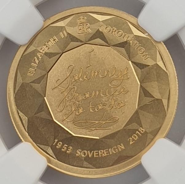 England - 1 Sovereign 2018 (PF 69 ULTRA CAMEO), Gibraltar, Elizabeth II Coronation