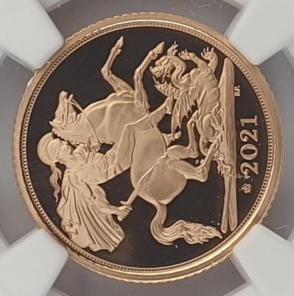England - Half Sovereign 2021 (PF 70 ULTRA CAMEO), 95 Privy