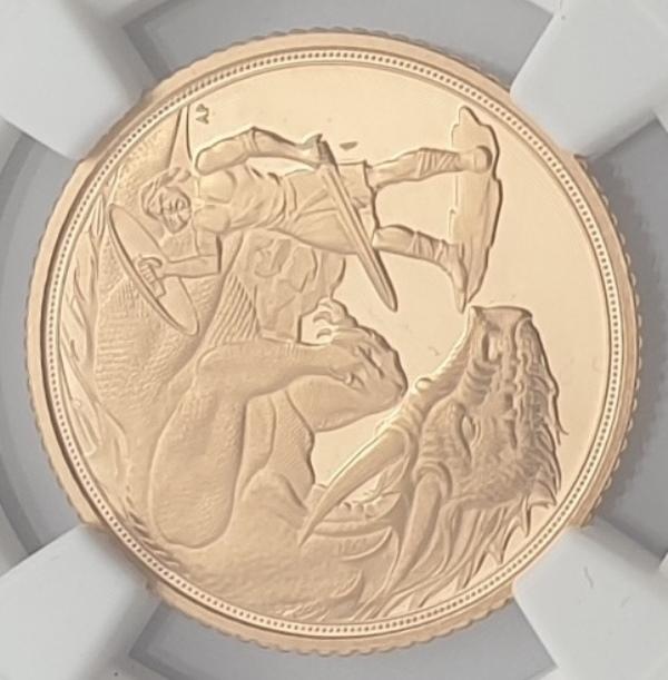 England - Half Sovereign 2021 (PF 69 ULTRA CAMEO), Gibraltar, St. George & the Dragon