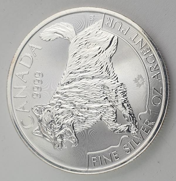 Canada - 1 OZ 2018 - Elizabeth II, Wolf, Silver 999*