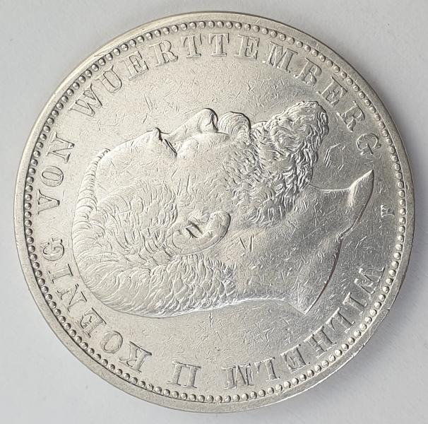 Germany - 5 Mark 1902 F, Wilhelm II, Silver