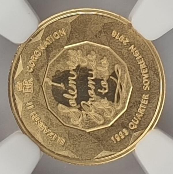England - Quarter Sovereign 2018 (PF 70 ULTRA CAMEO), Gibraltar, Elizabeth II Coronation