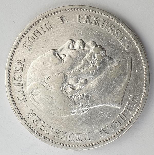Germany - 5 Mark 1876 A, Wilhelm I, Silver