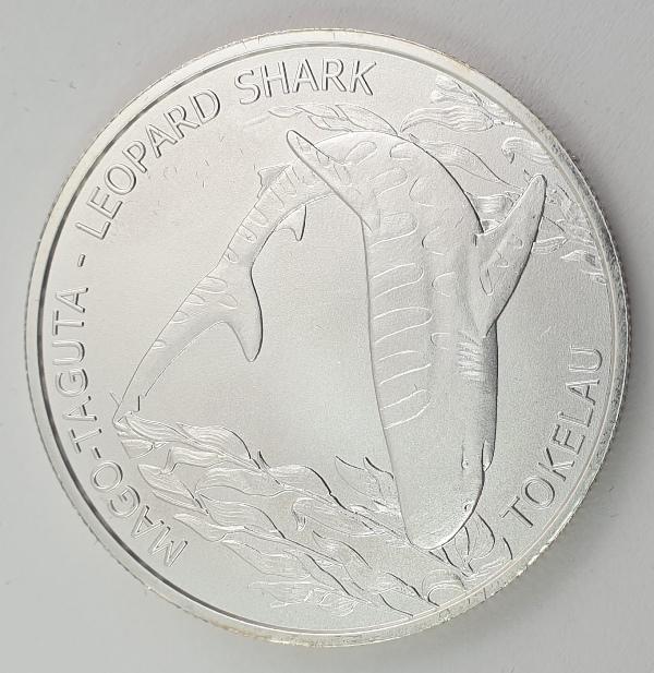 Tokelau - 1 OZ 2018 - Elizabeth II, Leopard Shark, Silver 999*