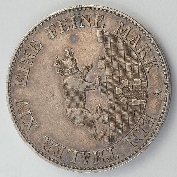 Germany - 1 Thaler 1846, Alexander Carl Ausbeute, Silver