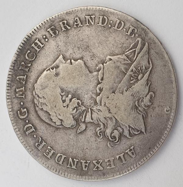 Germany - 1 Thaler 1766, Christian Friedrich Karl Alexander Konventionstaler, Silver