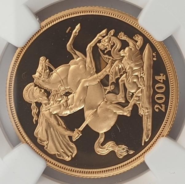 England - 2 Sovereign 2004 (PF 70 ULTRA CAMEO)
