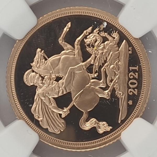 England - 1 Sovereign 2021 (PF 70 ULTRA CAMEO), 95 Privy