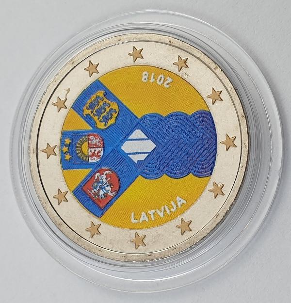 Latvia - 2 Euro 2018, Color, UNC
