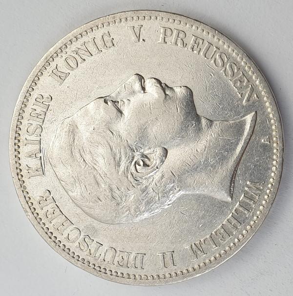 Germany - 5 Mark 1902 A, Wilhelm II, Silver