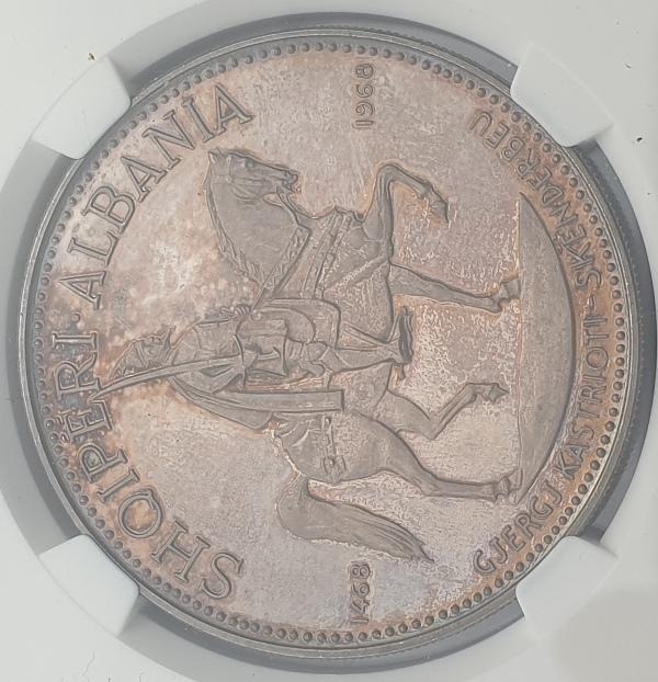 Albania - 10 Leke 1970S (PF 63), Prince Skanderbeg, Silver