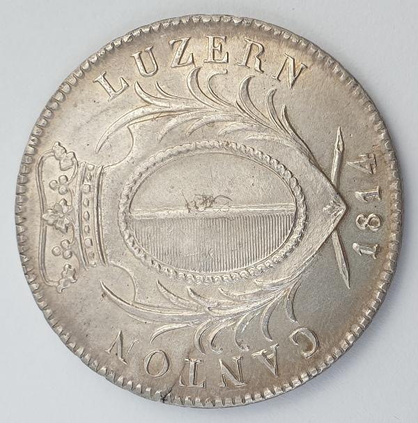 Canton of Lucerne - 4 Franken 1814, Silver