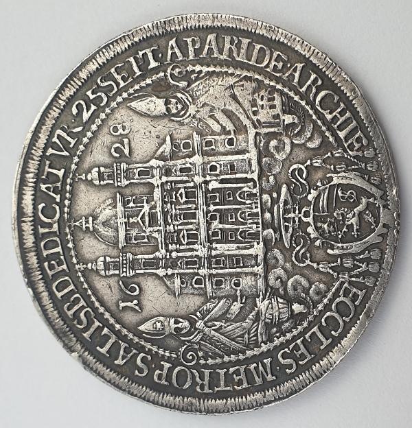 Austria - 1 Thaler 1628, Paris von Lodron Consecration, Silver