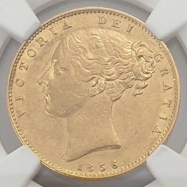 England - 1 Sovereign 1856 (AU 58)