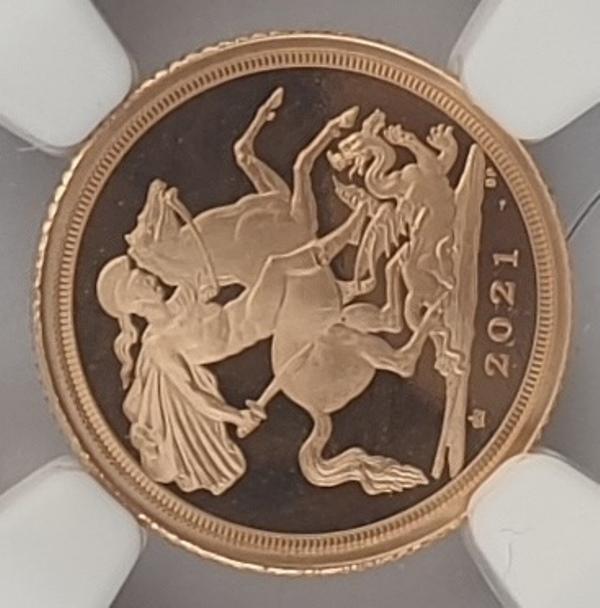 England - Quarter Sovereign 2021 (PF 70 ULTRA CAMEO), 95 Privy