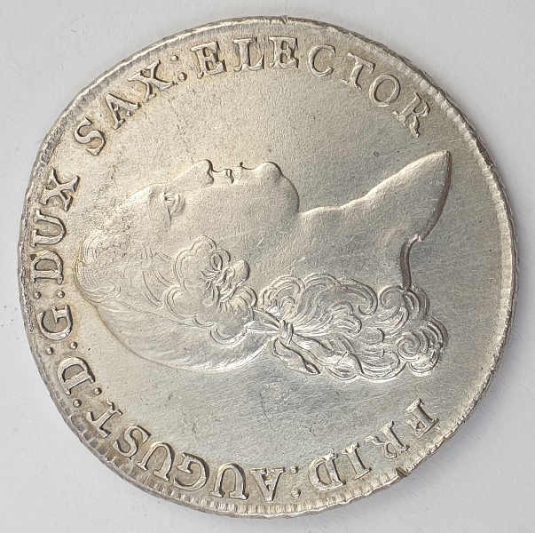 Germany - 1 Conventionsthaler 1780, Friedrich August III, Silver