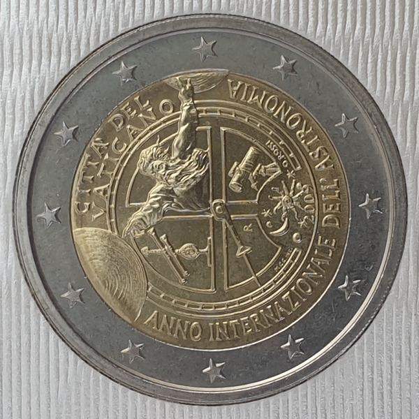 Vaticano - 2 Euro 2009, International Year of Astronomy, (Coin Card)