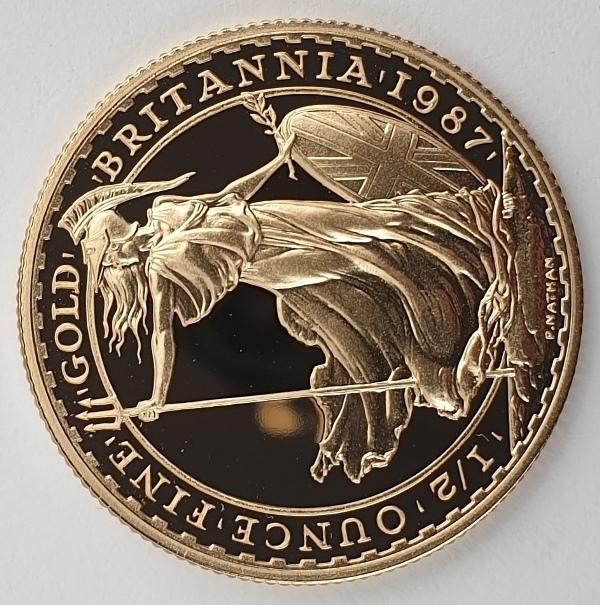 Britannia - 50 pounds (1/2 ounce) 1987, Gold Proof